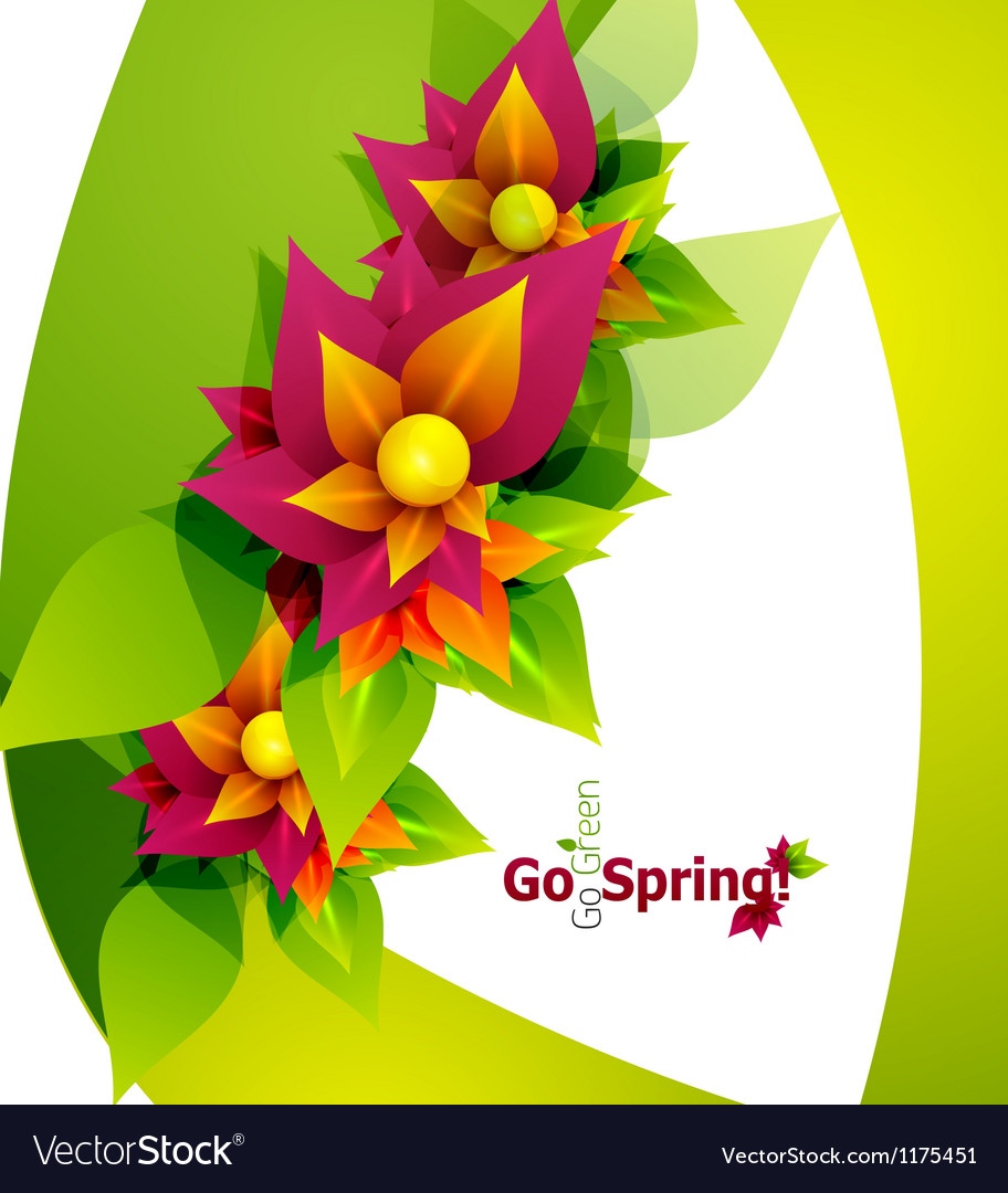 Spring flower abstract background vector | Price: 1 Credit (USD $1)