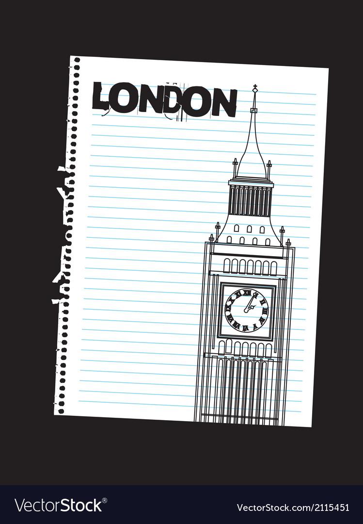 Tower clock vector | Price: 1 Credit (USD $1)