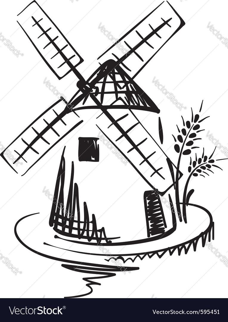 Windmill vector | Price: 1 Credit (USD $1)
