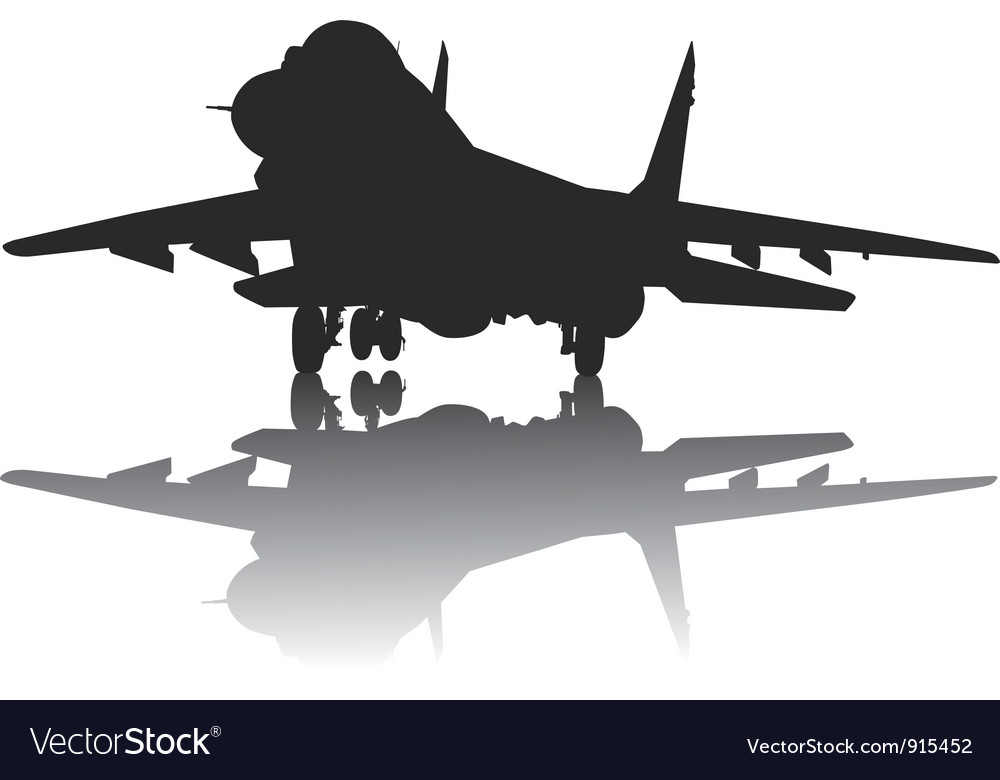 Aircraft silhouette vector | Price: 1 Credit (USD $1)