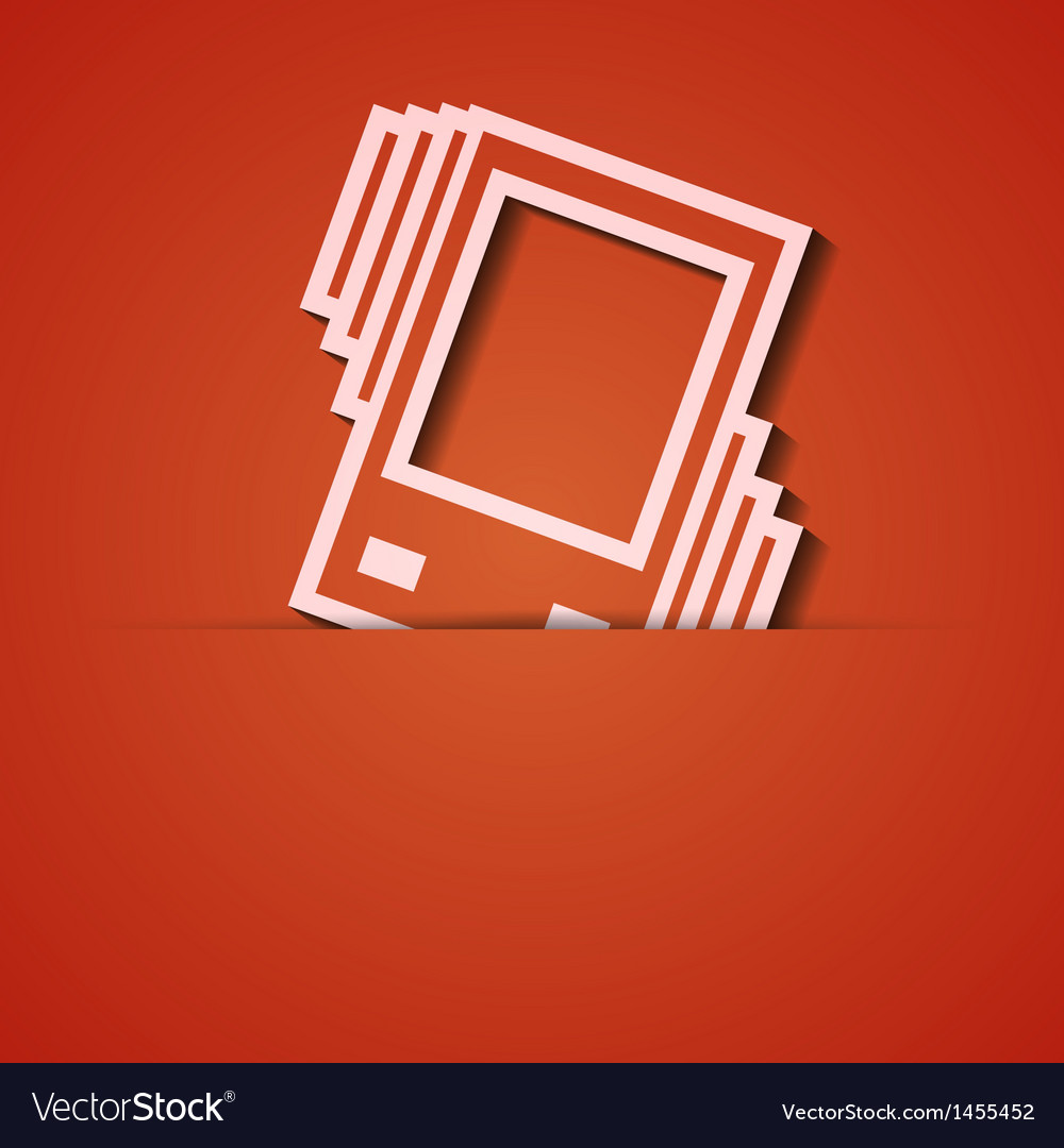 Background orange icon applique eps10 vector | Price: 1 Credit (USD $1)