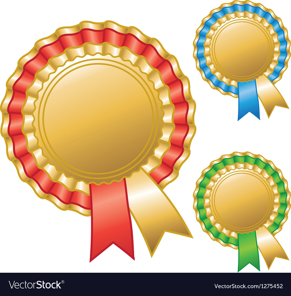 Blank awards ribbons vector | Price: 1 Credit (USD $1)