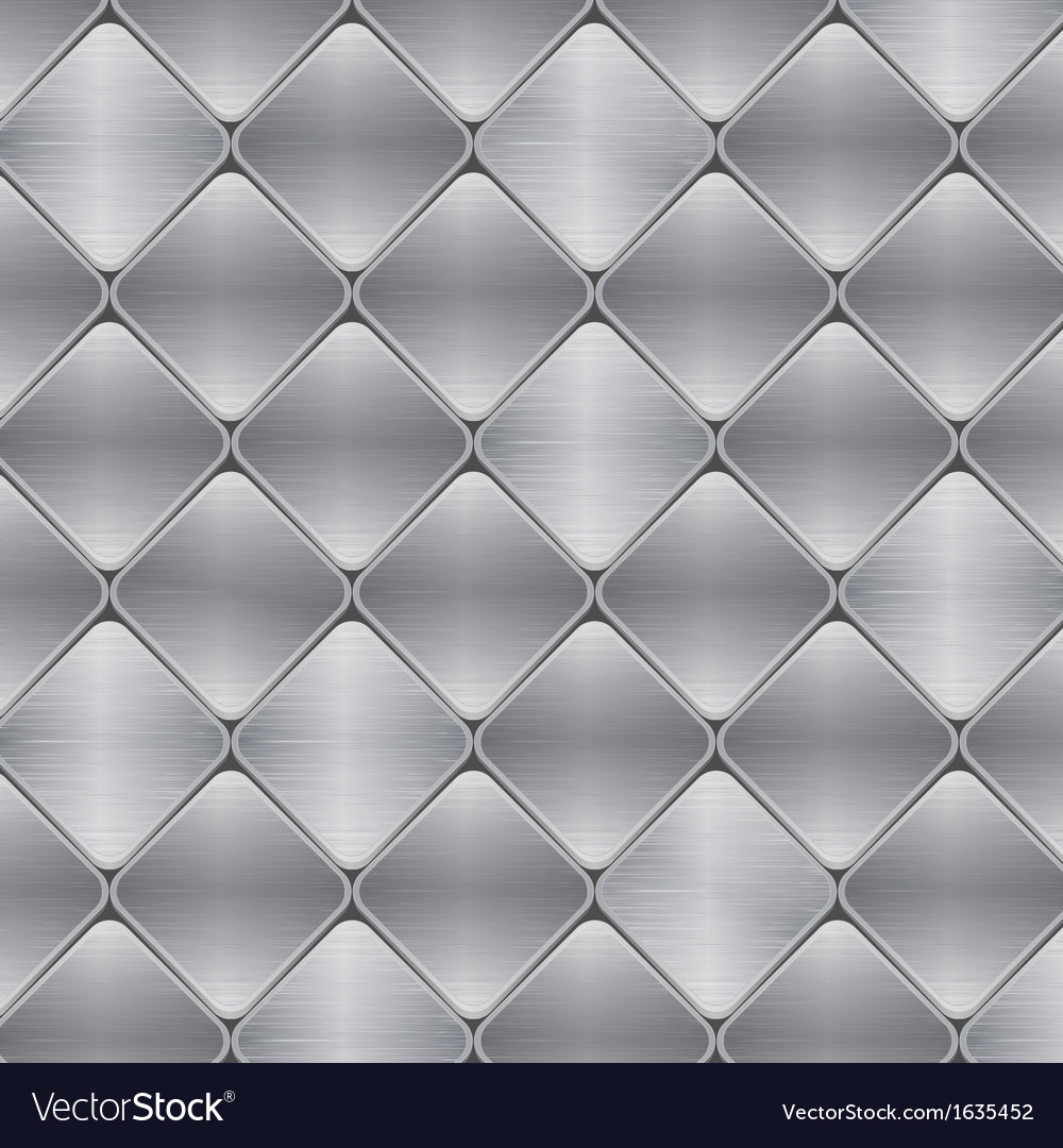 Brushed metal mosaic tile background vector | Price: 1 Credit (USD $1)