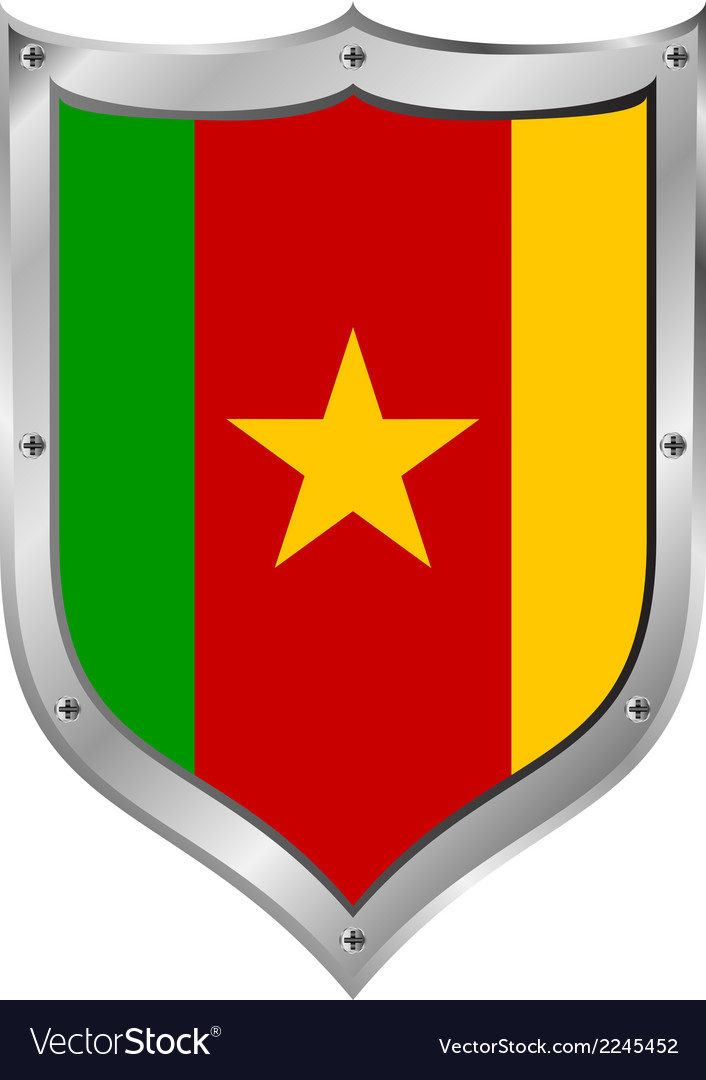 Cameroon flag button vector | Price: 1 Credit (USD $1)