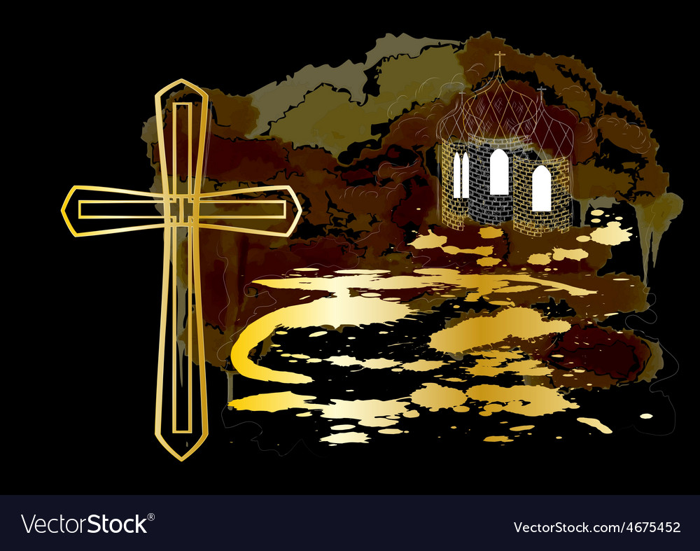 Cross and church vector | Price: 1 Credit (USD $1)