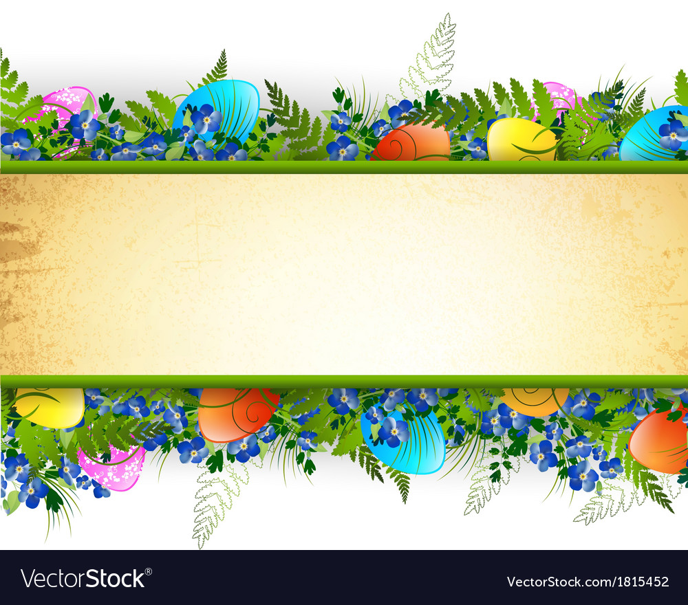 Easter decorative frame vector | Price: 1 Credit (USD $1)