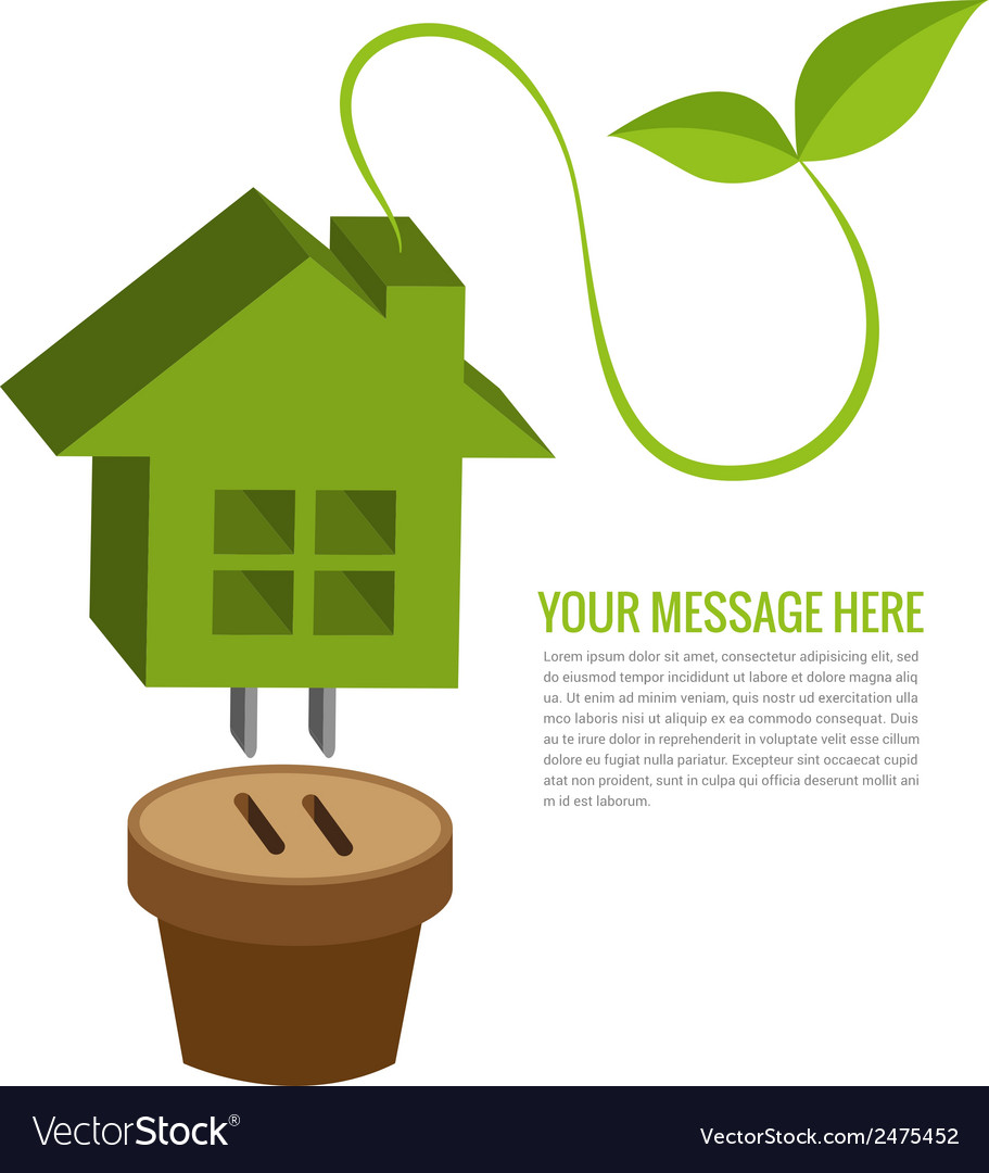 Ecology house background vector | Price: 1 Credit (USD $1)