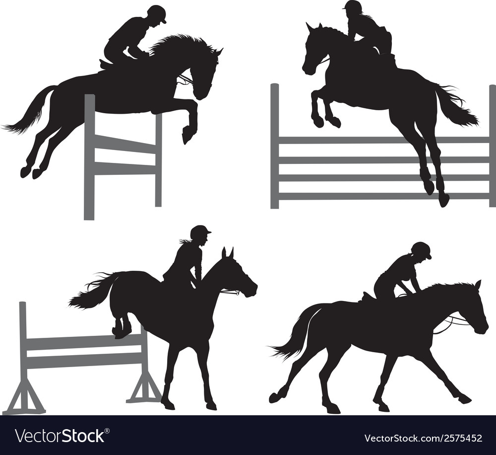 Equestrian sports set vector | Price: 1 Credit (USD $1)