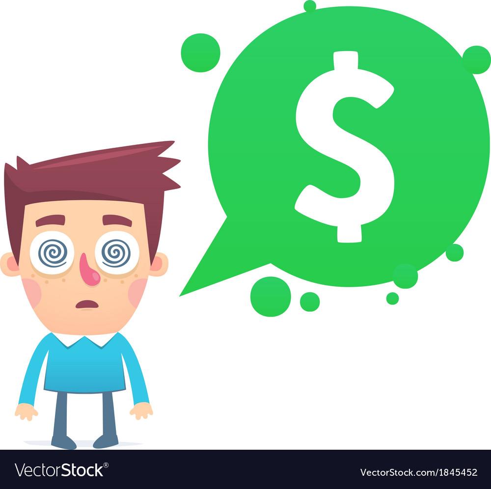 Financial paranoia vector | Price: 1 Credit (USD $1)