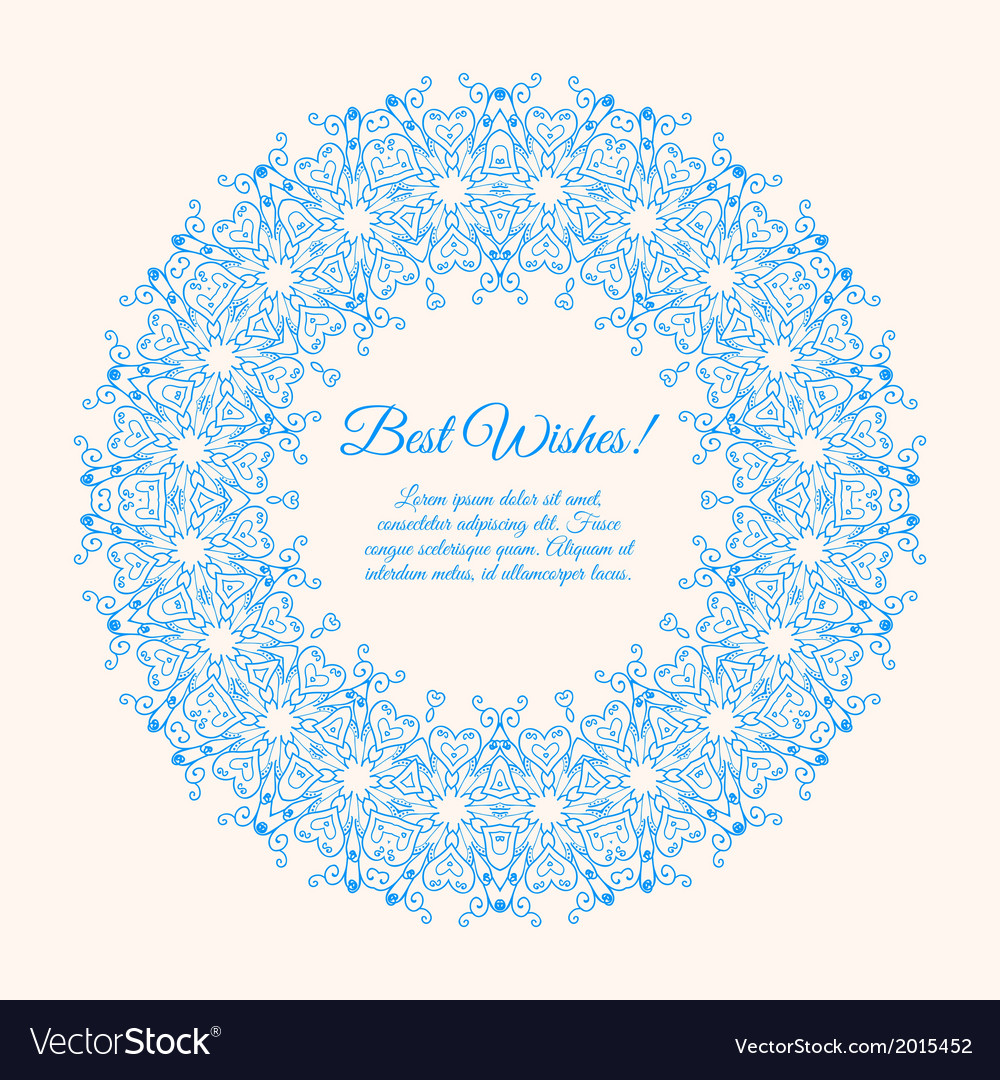 Ornamental round lace background with many details vector | Price: 1 Credit (USD $1)