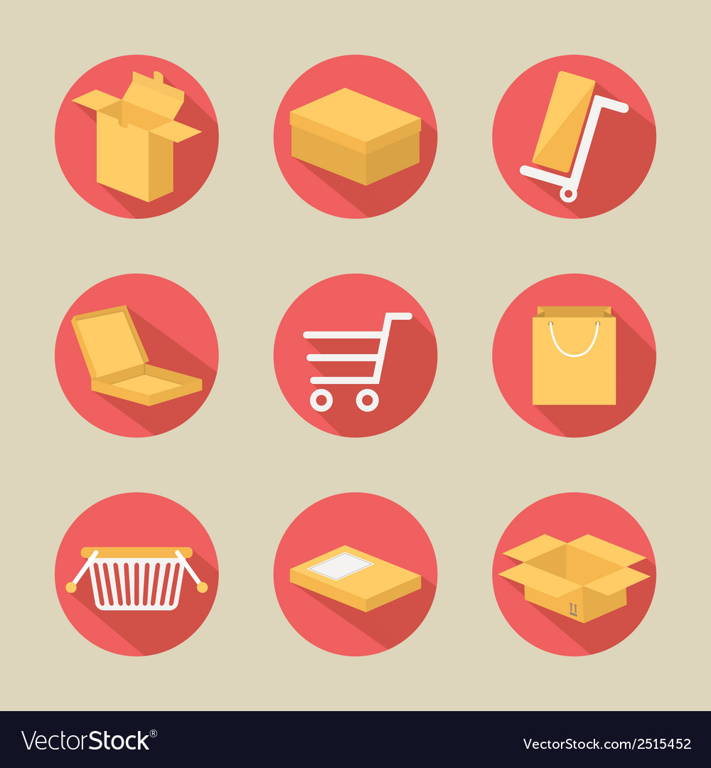 Packaging icons set vector   Price: 1 Credit (USD $1)
