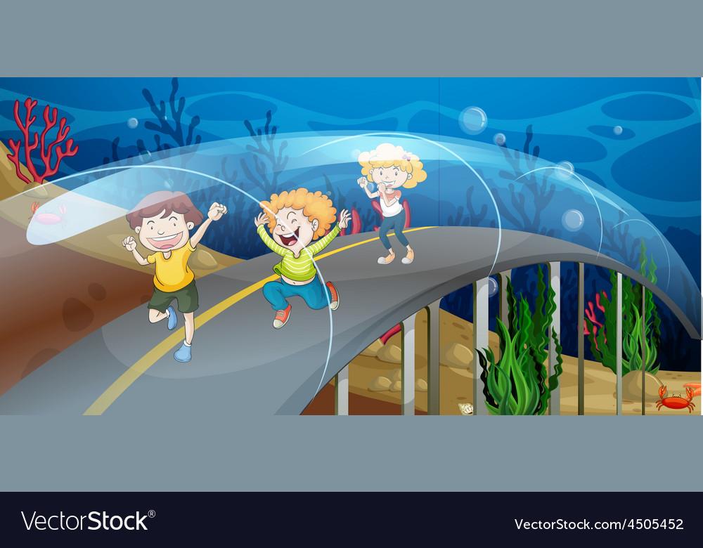Road underwater vector | Price: 3 Credit (USD $3)