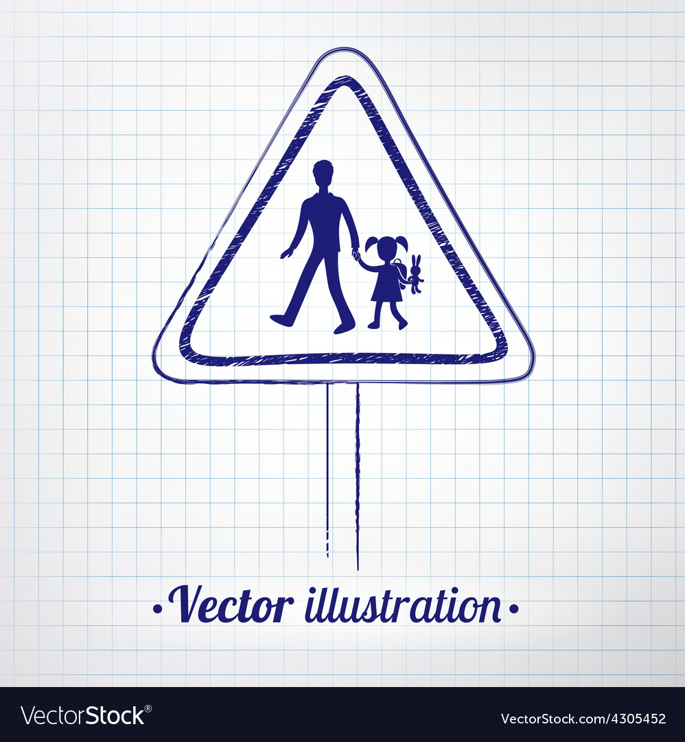 School warning sign vector | Price: 1 Credit (USD $1)