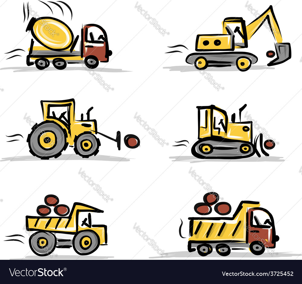 Set of construction equipment for your design vector | Price: 1 Credit (USD $1)