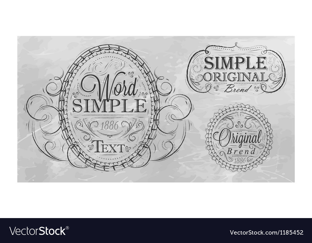 Vintage frame with ornaments gray background vector | Price: 1 Credit (USD $1)