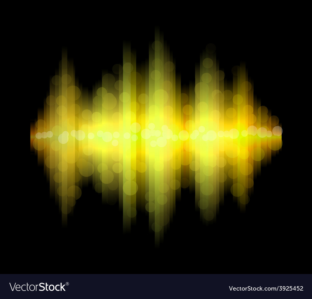 Yellow aurora vector | Price: 1 Credit (USD $1)