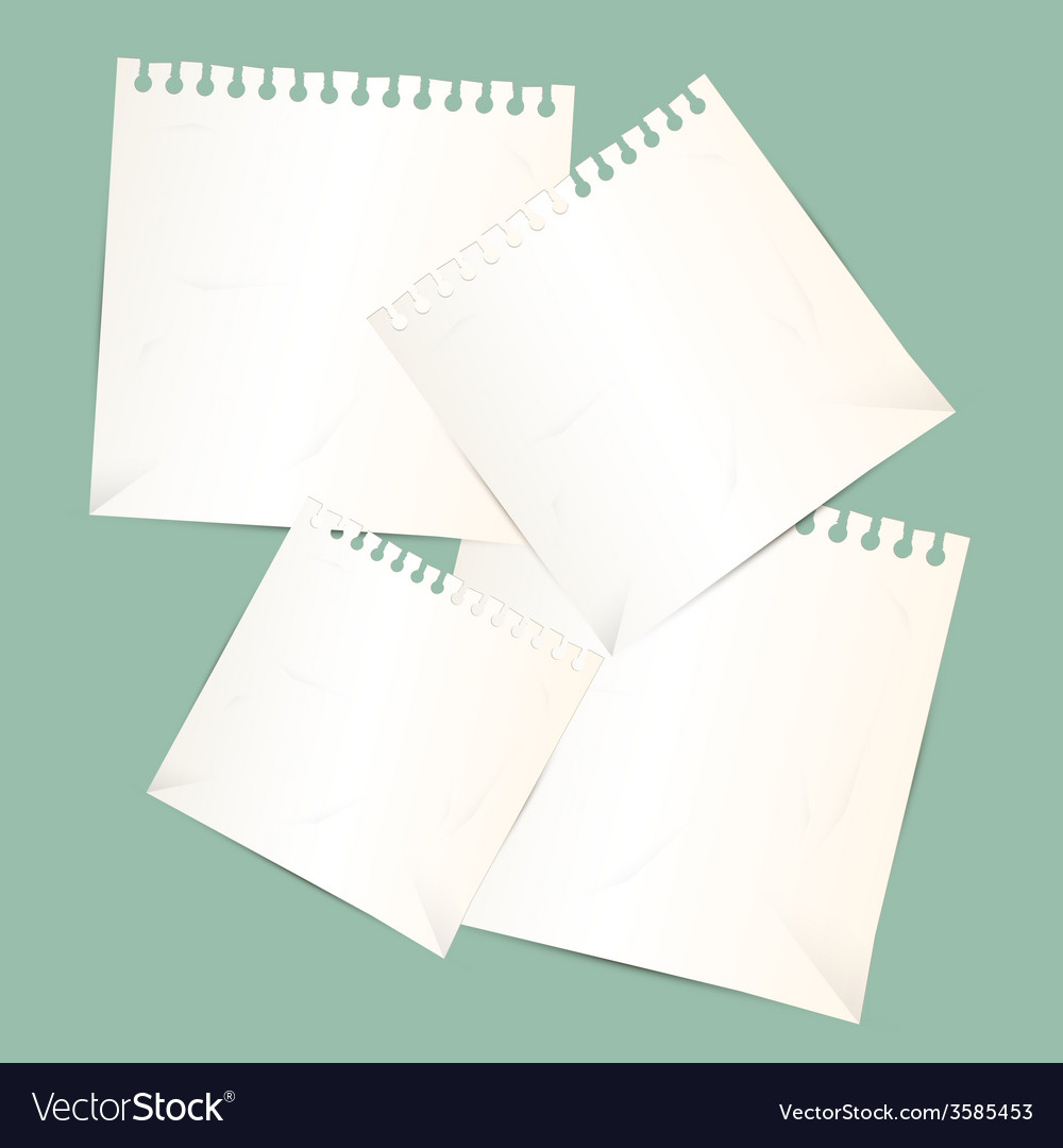 Paper sheets vector | Price: 1 Credit (USD $1)