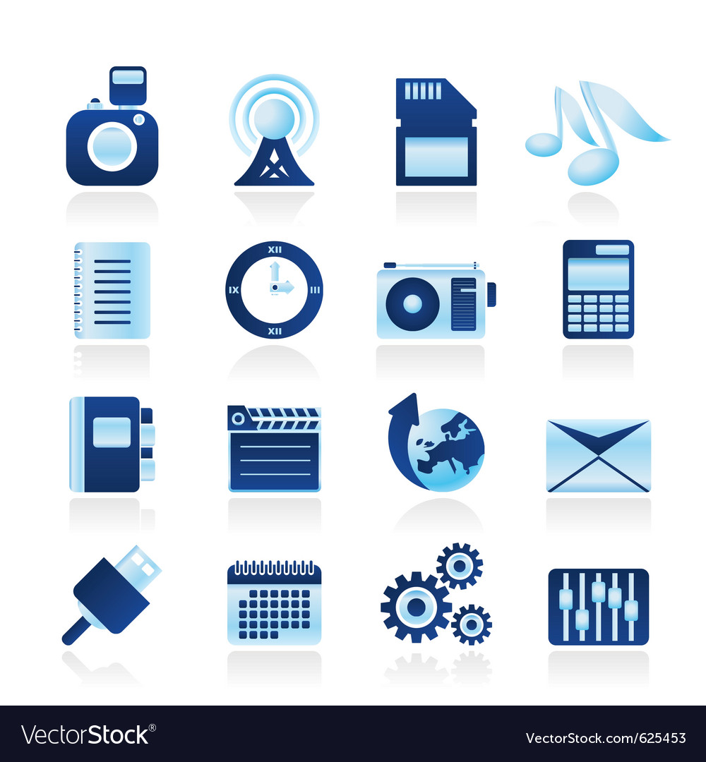 Phone performance and internet icons vector | Price: 1 Credit (USD $1)