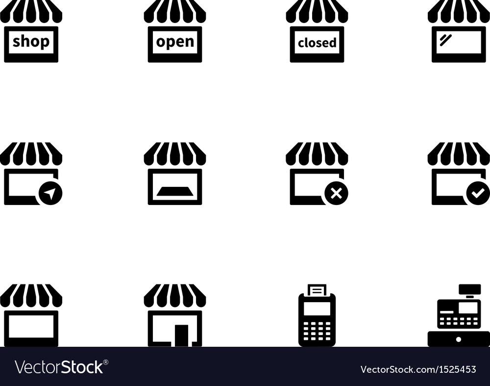 Shop icons on white background vector | Price: 1 Credit (USD $1)
