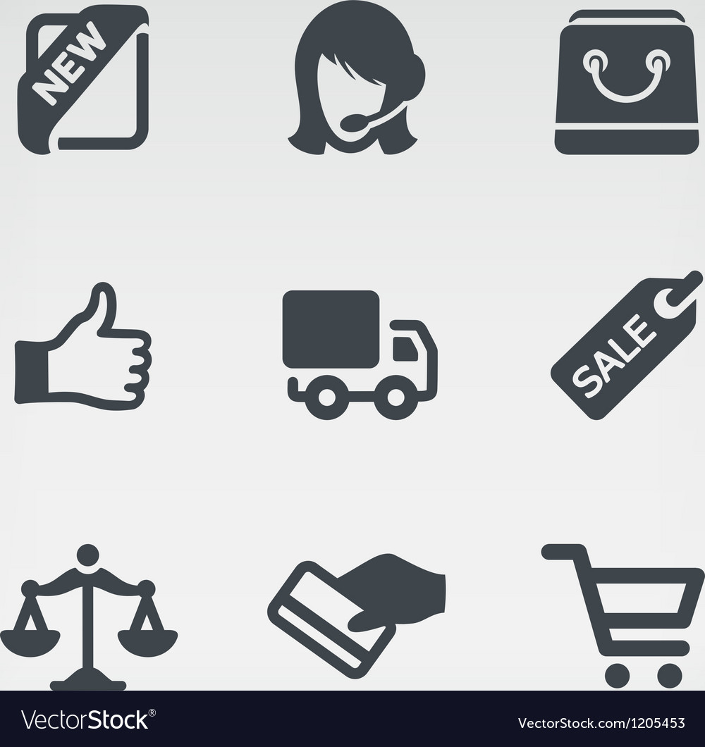 Shopping 1 icon set vector | Price: 1 Credit (USD $1)