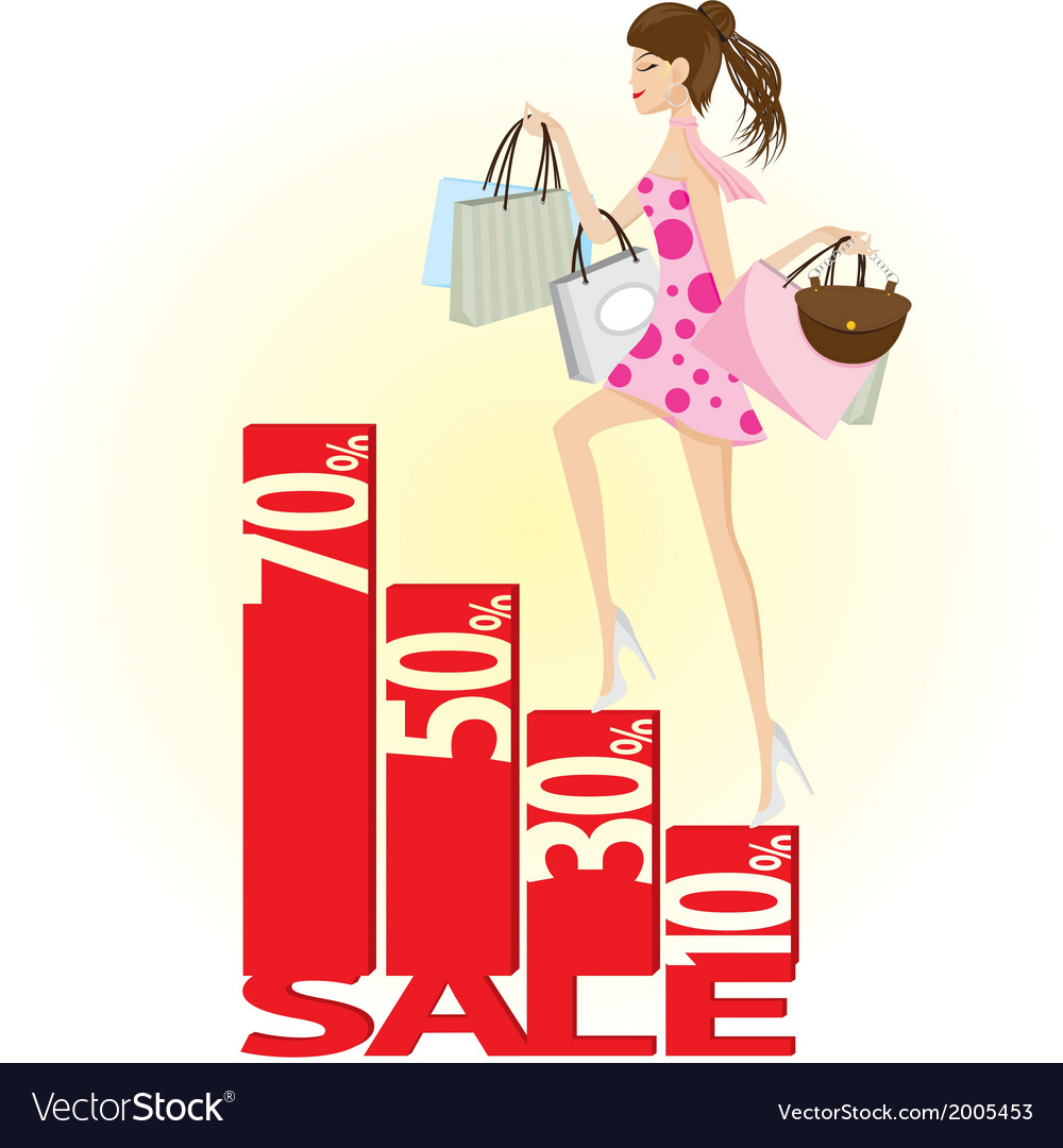 Shopping sale vector | Price: 1 Credit (USD $1)