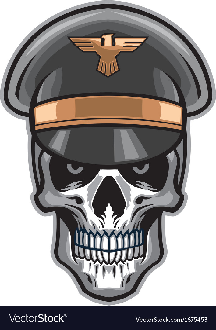 Skull soldier wearing hat vector | Price: 1 Credit (USD $1)