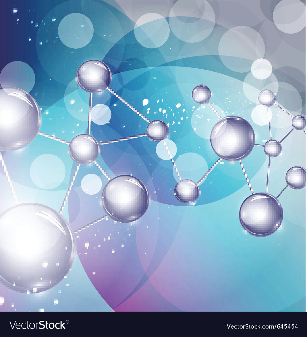 Abstract background with molecules vector | Price: 1 Credit (USD $1)