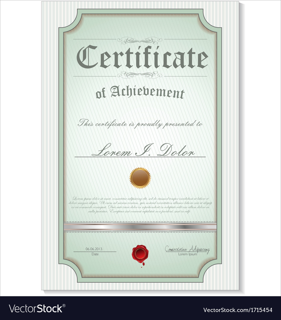 Green detailed certificate vector | Price: 1 Credit (USD $1)