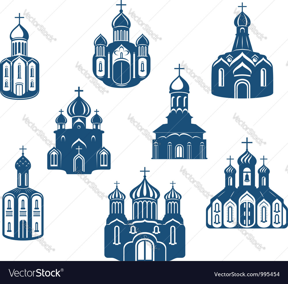 Religious churches and temples vector | Price: 1 Credit (USD $1)