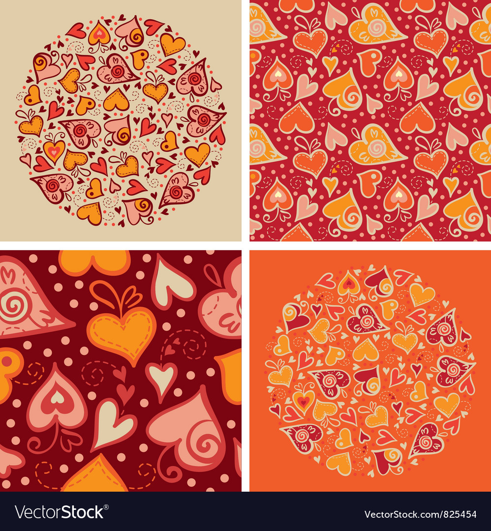 Set of love backgrounds vector | Price: 1 Credit (USD $1)