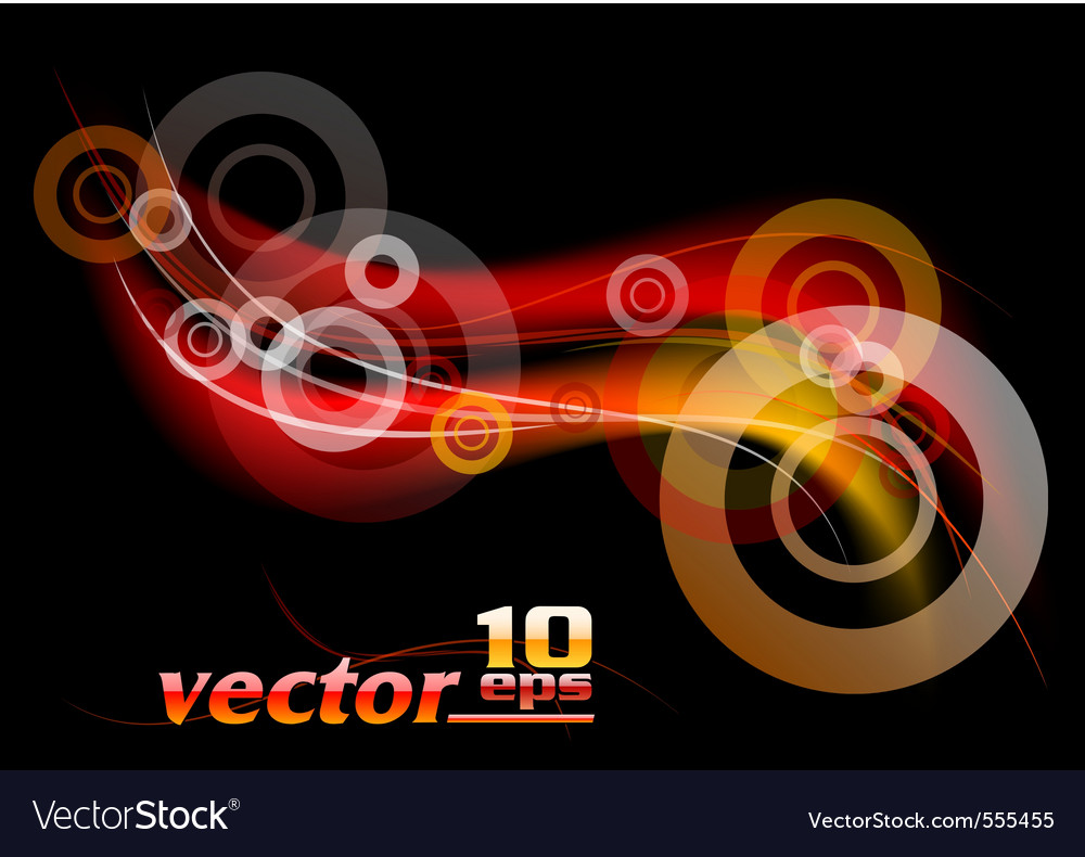 Abstract on the black vector | Price: 1 Credit (USD $1)