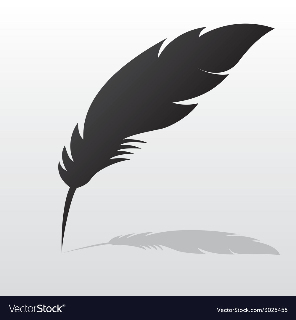 Feather with shadow vector | Price: 1 Credit (USD $1)