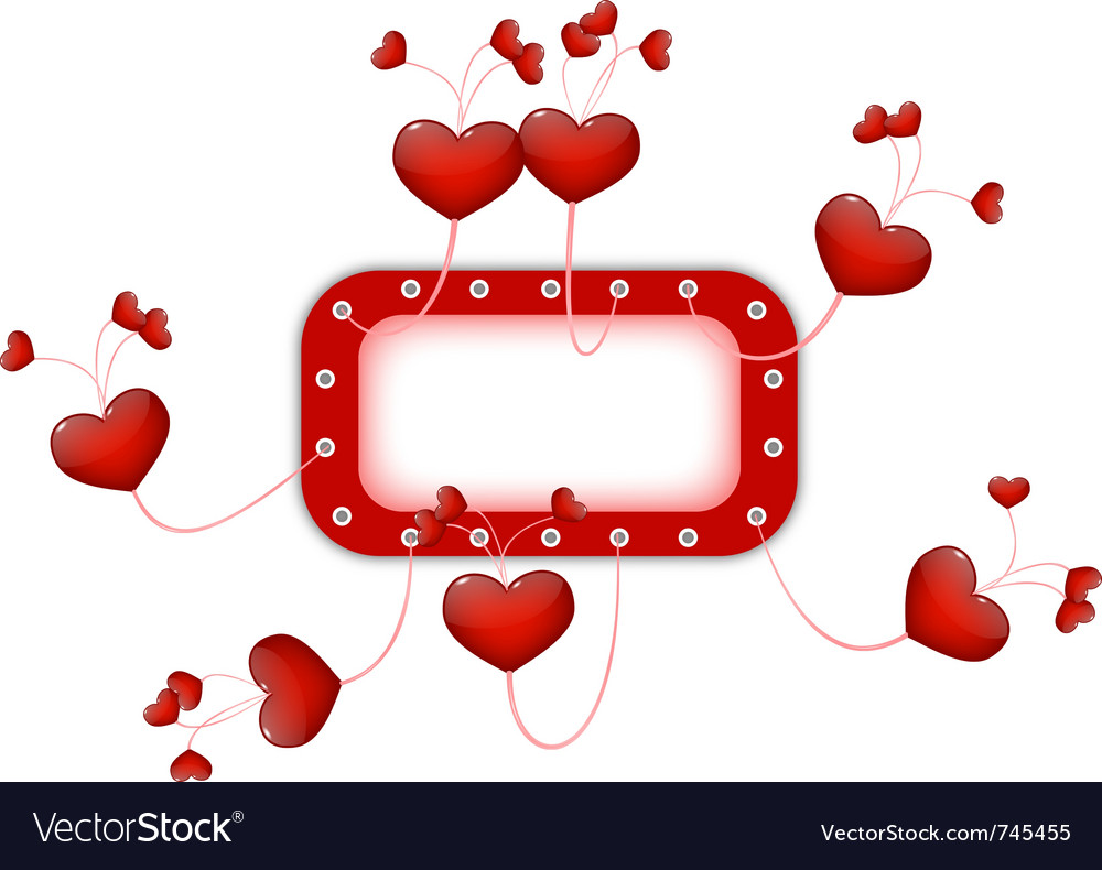 Frame with hearts vector | Price: 1 Credit (USD $1)