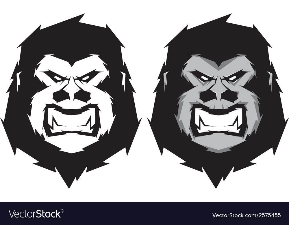 Gorilla head mascot vector | Price: 1 Credit (USD $1)