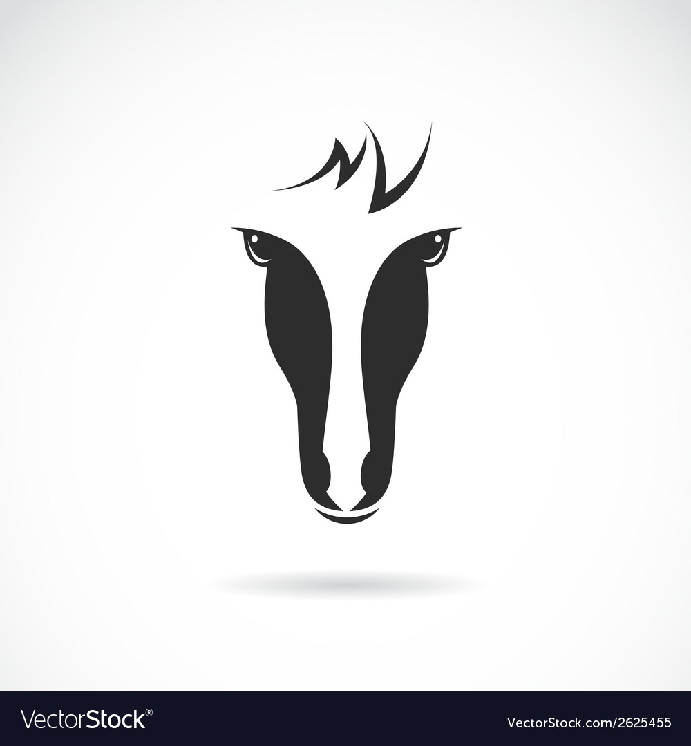Image of an horse face vector | Price: 1 Credit (USD $1)