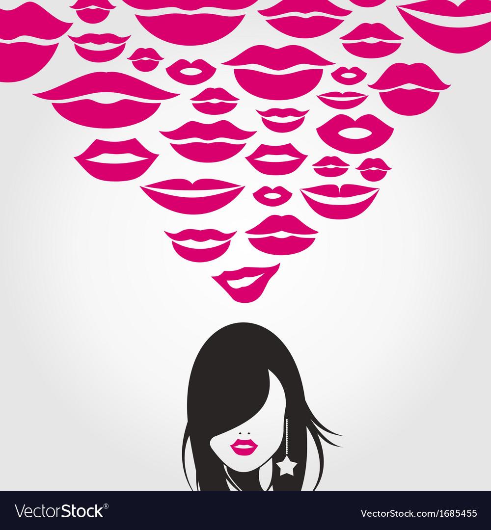 Kiss vector   Price: 1 Credit (USD $1)
