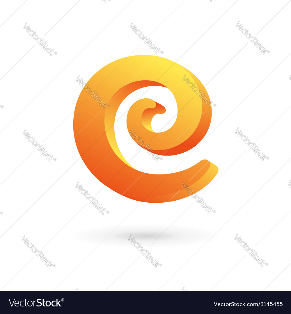 Letter c spiral logo icon design template elements vector | Price: 1 Credit (USD $1)