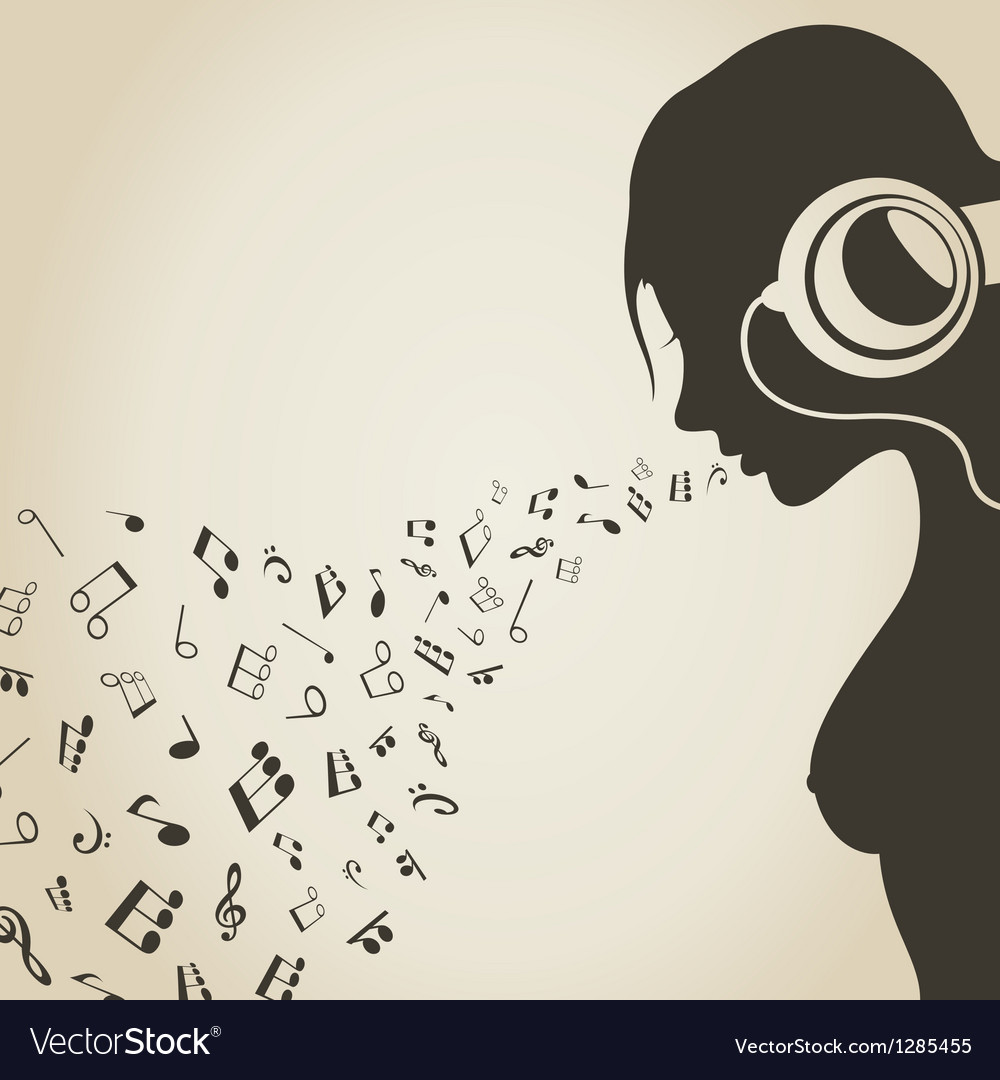 Music the girl vector | Price: 1 Credit (USD $1)