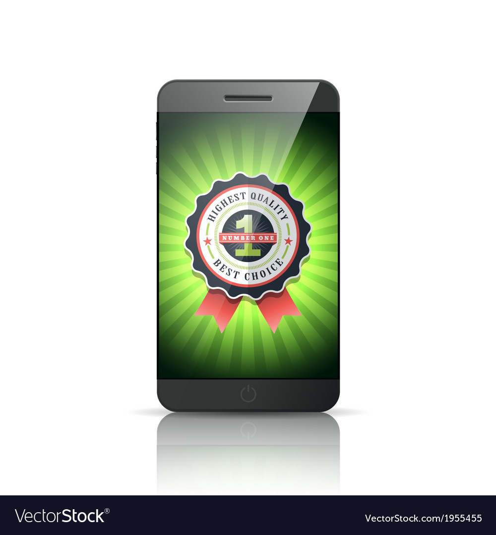 Number 1 best choice smart phone vector | Price: 1 Credit (USD $1)