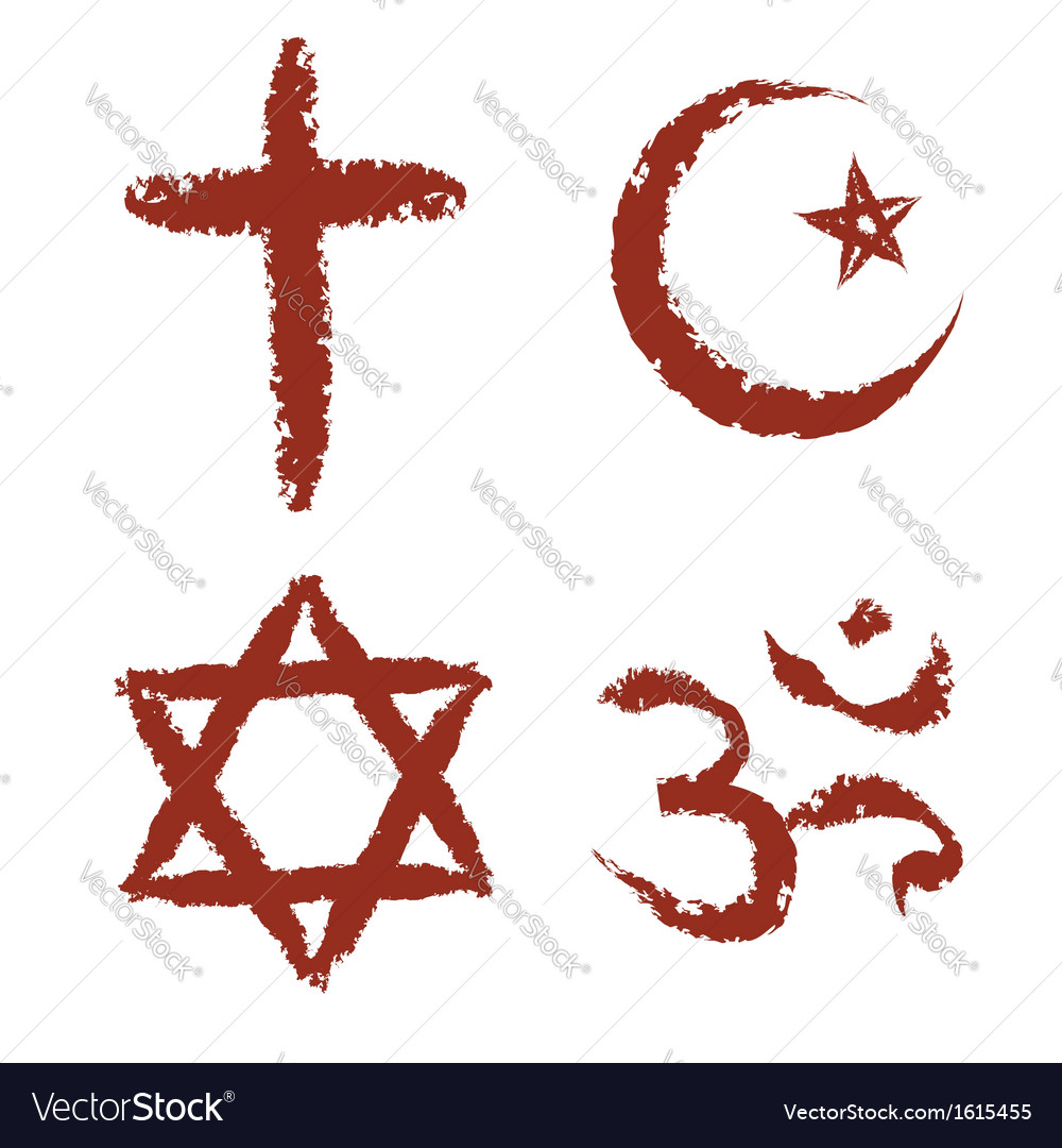Painted religion signs vector | Price: 1 Credit (USD $1)