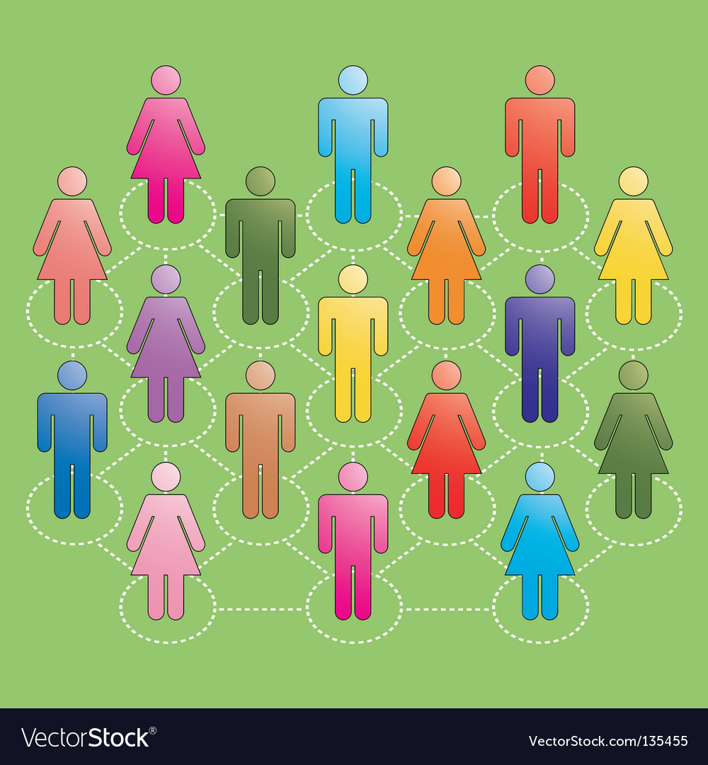 People networking vector | Price: 1 Credit (USD $1)