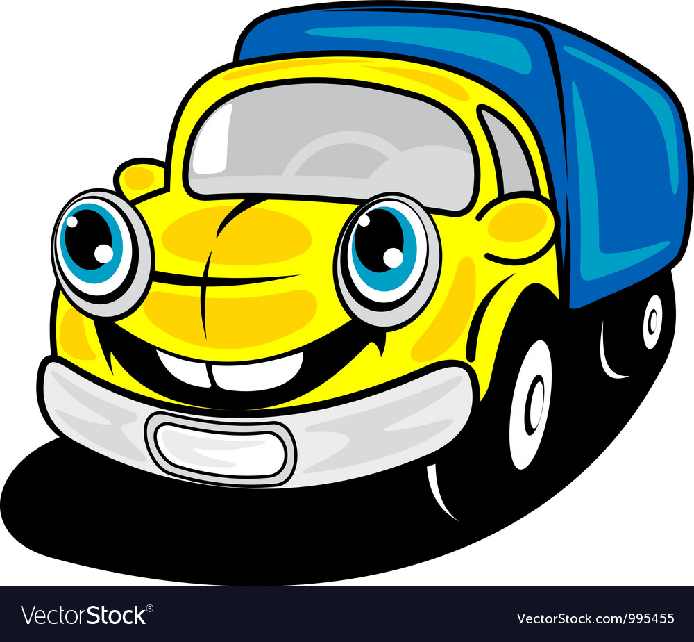Smiling truck in cartoon style vector | Price: 1 Credit (USD $1)
