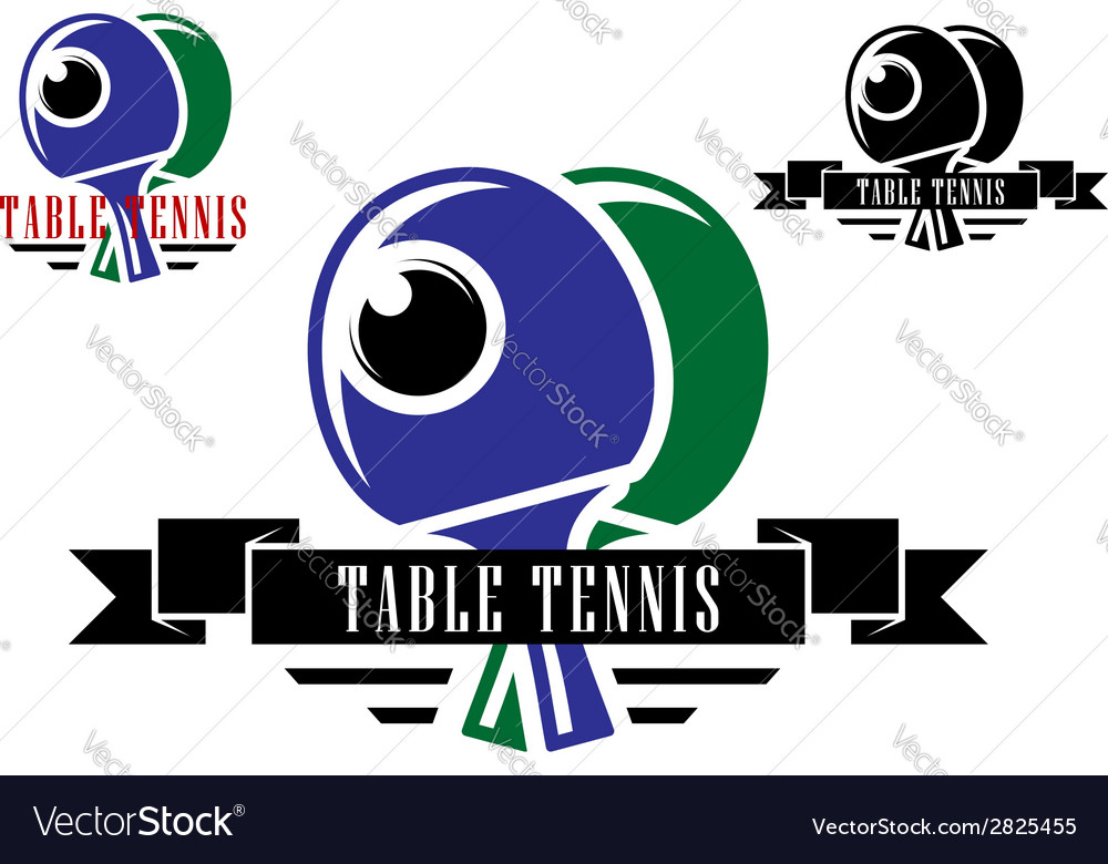 Table tennis emblems and symbols vector | Price: 1 Credit (USD $1)