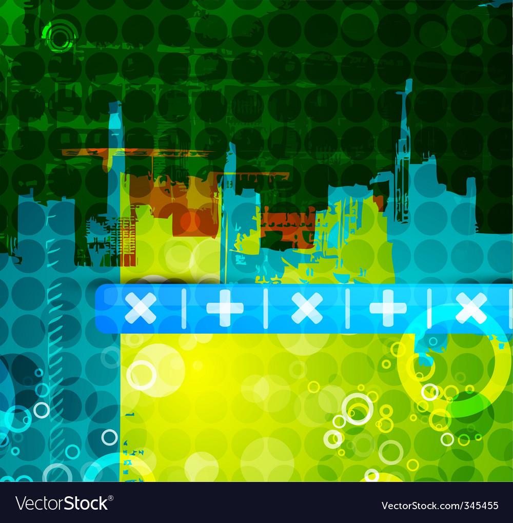 Urban abstract print vector | Price: 1 Credit (USD $1)