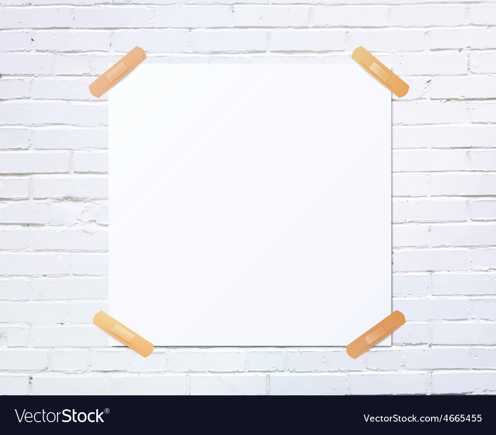 White square blank piece of paper taped to the vector | Price: 1 Credit (USD $1)