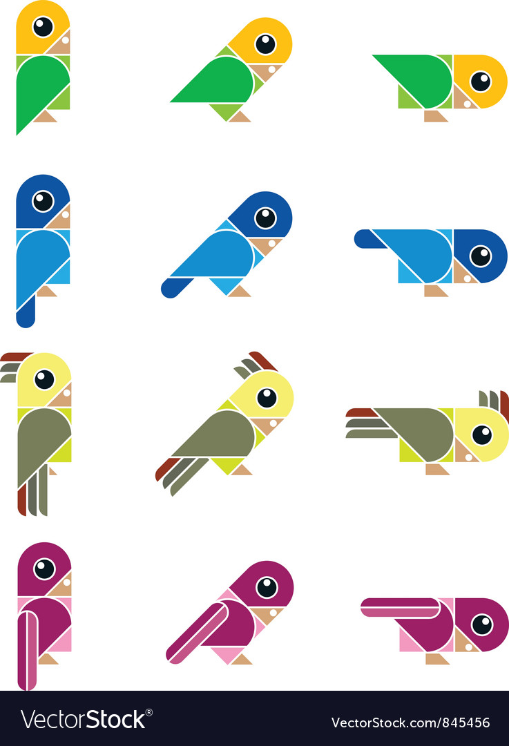 Birdy isolated vector | Price: 1 Credit (USD $1)