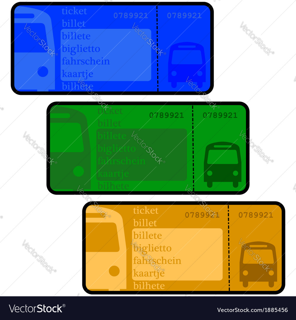 Bus tickets vector | Price: 1 Credit (USD $1)