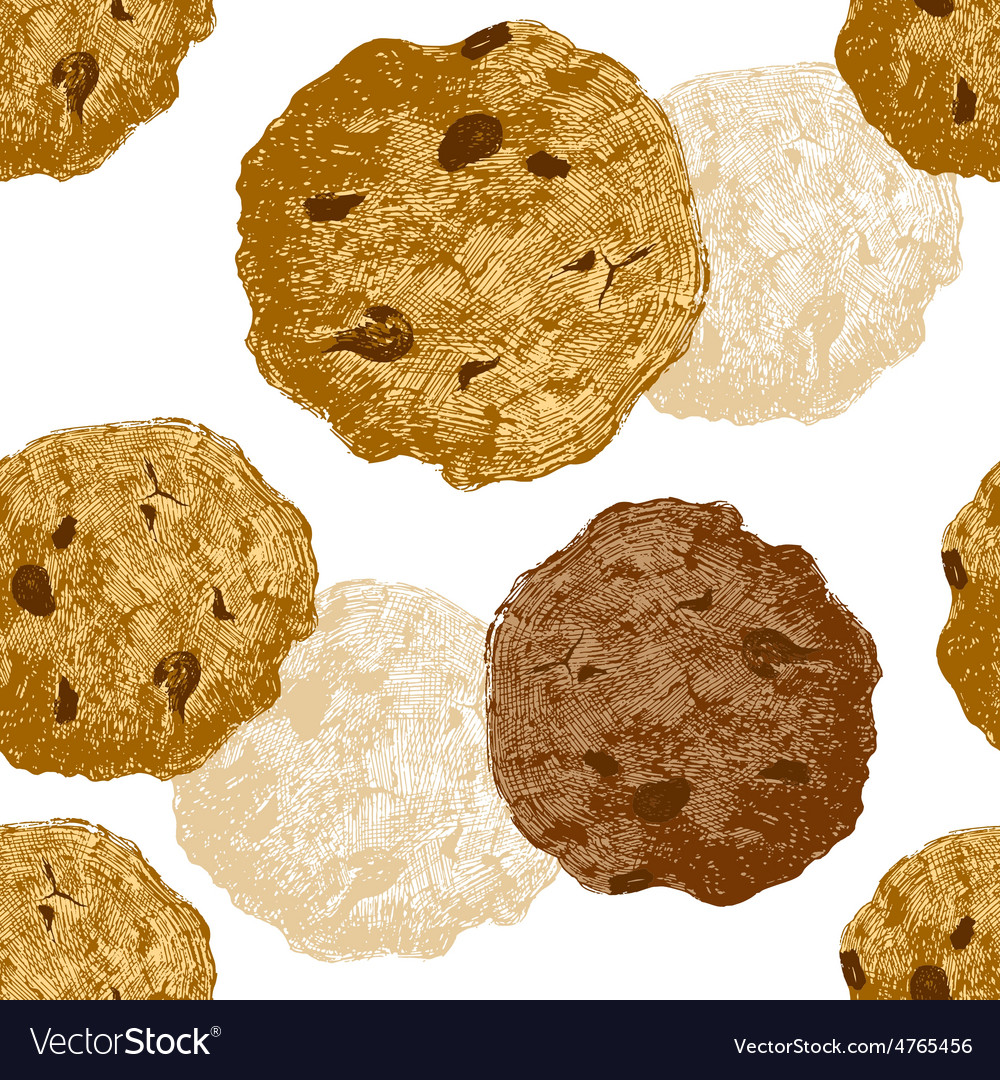 Hand drawn cookie seamless vector   Price: 1 Credit (USD $1)