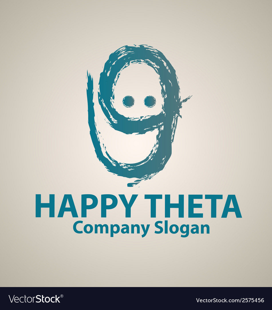 Happy theta logo template vector | Price: 1 Credit (USD $1)
