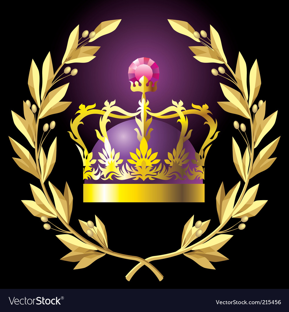 Laurel wreath and crown vector | Price: 3 Credit (USD $3)